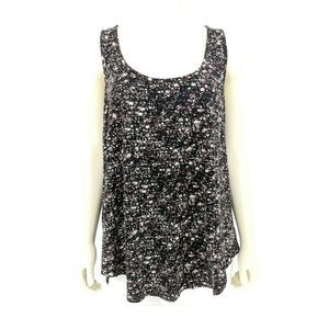 Torrid Black Multi Star Active Tank Top Size: 1
